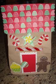 paper bag gingerbread house christmas winter pinterest