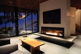 Contemporary Electric Fireplace Modern Gas Fireplace Inserts Family Room Contemporary With Accent
