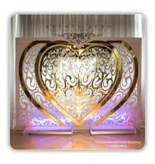 wedding backdrop buy wedding heart golden mirror backdrop for events and party buy