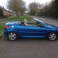 peugeot 206 1 6 3dr convertible manual mot tax mileage 17 500