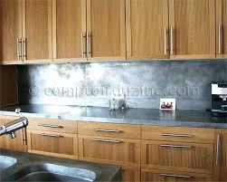 plan de travail cuisine en zinc plan de travail cuisine en zinc construire meuble de salle de bain