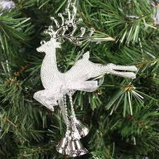 christmas tree reindeer elk deer bell ornament pendant xmas party