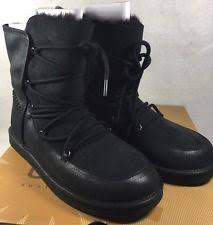 womens ugg lodge boot ugg australia leather comfort lace up boots for ebay