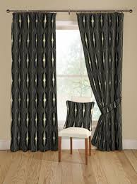 And Black Fabric For Curtains Montgomery Apollo Curtain Fabric In Colour 51 Black