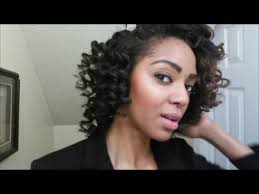 ththermal rods hairstyle gorgeous perm rod set on relaxed hair youtube