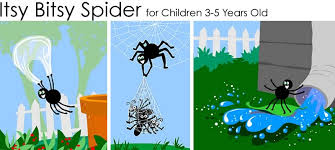 itsy bitsy spider for younger children