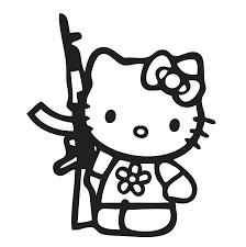 kitty gun decal vinyl sticker sticker kitty