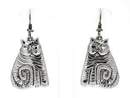 laurel burch jewelry vintage silver laurel burch shambala cat earrings