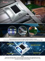 Led Solar Deck Lights - 2 pack led solar deck lights