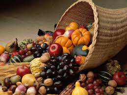 the thanksgiving cornucopia or horn of plenty weekly
