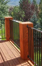ipe deck railing options to harmonize with your tropical hardwood