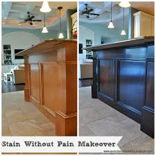 How To Gel Stain Kitchen Cabinets Gel Stain Kitchen Cabinets Before After Modern Cabinets