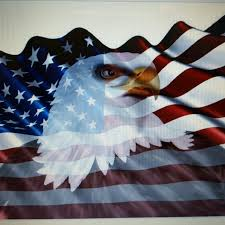 Flag Graphics 24x40 American Flag Eagle 1 Window Rv Trailer Decal Decals