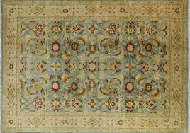 Wool Area Rugs 10 X 15 Knotted Blue Wool Area Rug H6251