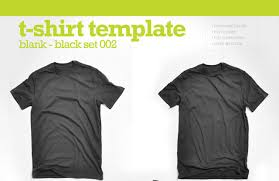 collection of blank t shirt mockup templates