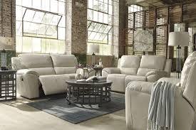 Greensburg Bedroom Furniture By Ashley Valeton Cream 2 Seat Reclining Sofa
