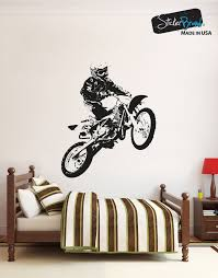 sports wall stickers sports decals for walls stickerbrand vinyl wall decal sticker motocross rider os aa194