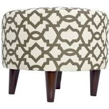 button tufted round storage ottoman brown paisley 120 liked