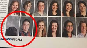 year book service dog makes it into high school yearbook