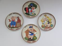 50th anniversary plates disney bisque the three pigs anniversary plates disney 50th