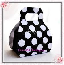 polka dot boxes black amp white polka dots mini handbag wedding favor box candy box