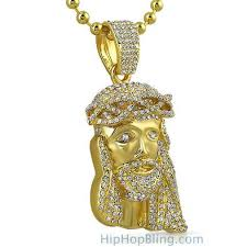 jesus piece necklace images New gold jesus piece 3d crown rosary necklace hiphopbling jpg