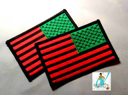 Iron On American Flag American Flag In Reverse Rbg Colors Patch 3x2 Iron On