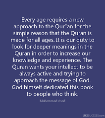 muhammad asad the message of the quran quotes like success