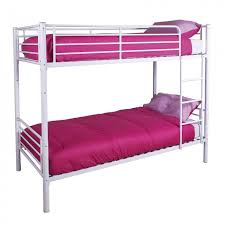Amazing Value GFW Florida Metal Bunk Bed Fast  Free Delivery - Pink bunk bed