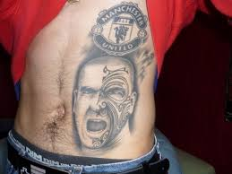 this fan u0027s tattoo pays homage to manutd great eric cantona