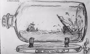 642 things to draw day 67 a ship in a bottle