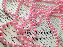 pink pearl garland beaded garland decoration shabby