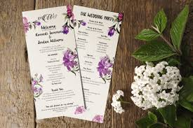 wedding program designs 21 wedding program templates free sle exle format