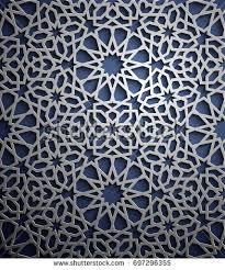 islamic ornament vector motiff 3d stock vector 697296355