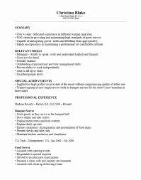 People Skills Resume Sample Resume Waiter Resume Examples Server Job Cocktail Resume