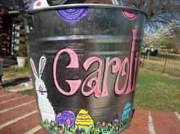 painted easter buckets the 16 best images about easter baskets and buckets on