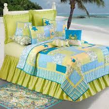 coastal theme bedding hawaiian coastal bedrooms style with green aquatropical