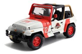 jurassic world jeep jada toys jurassic park 1992 jeep wrangler jurassic world