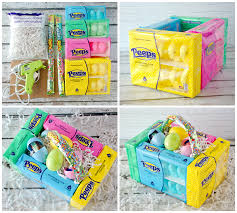 peeps basket edible peeps marshmallow easter baskets crafty morning