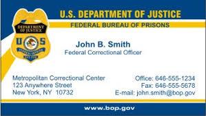 federal bureau of prisons policebusinesscards com display business cards