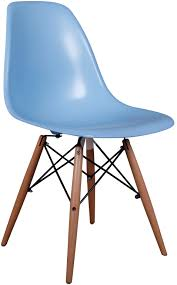 dsw eames dining chair replica timber blue side chair furniture