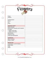 wedding flowers quote form wedding planner template wedding flower order form