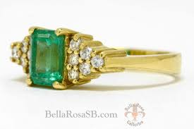 vintage emerald engagement rings santa engagement ring vintage emerald diamond rosa