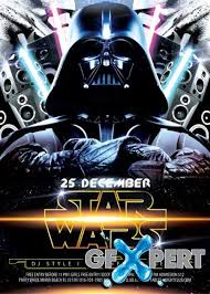 free star wars party v2 flyer psd template cover download