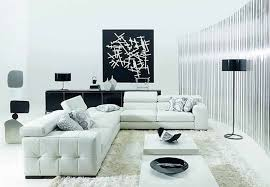 simply black and white living room idea with nice wall art and