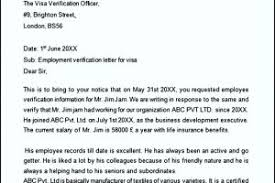 sample proof of employment letter for visa templatezet