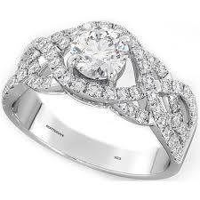 luxury gold rings images 925 sterling silver ladies luxury wedding engagement round cut jpg
