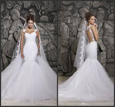 custom wedding dress custom made 2015 beautiful court illusion transparent back