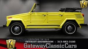 volkswagen thing 1973 volkswagen thing 12054 miles yellow convertible 1640 cc 4