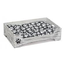 Shabby Chic Cushions Uk by Shabby Chic Style Pet Bed Made Of Wood With Cushion Prestige Wicker